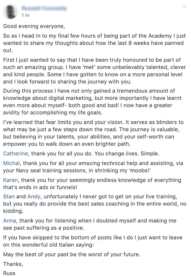 Cat Howell – FB ads Academy 35
